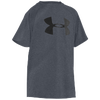 Under Armour Big Logo Tech T-Shirt - Boys' Grade School - Grey / Black