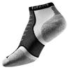 Thorlo Cushioned Heel Micro Mini Running Socks - Black / White
