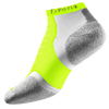Thorlo Cushioned Heel Micro Mini Running Socks - Light Green / White