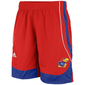adidas College Point Guard Shorts - Men's - Kansas Jayhawks - University Red