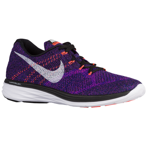 nike flyknit lunar 3 men 39 s running shoes black concord vivid purple white. Black Bedroom Furniture Sets. Home Design Ideas