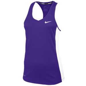 Nike Team Miler Tank II - Women's - Purple/White