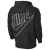 Nike Ace FZ Hoodie Back Exploded Logo - Men's - Black / Red