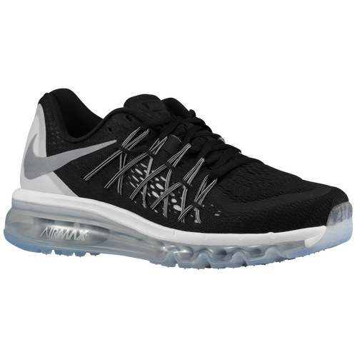 nike air max 2015 women 39 s running shoes black reflective silver white summit white. Black Bedroom Furniture Sets. Home Design Ideas
