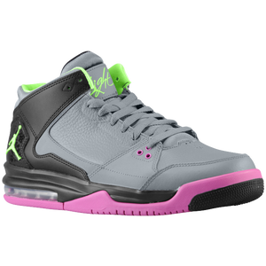 Jordan Flight Origin - Men's - Cool Grey/Flash Lime/Pink