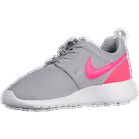 Nike Roshe One Girls' Grade School Grey Pink