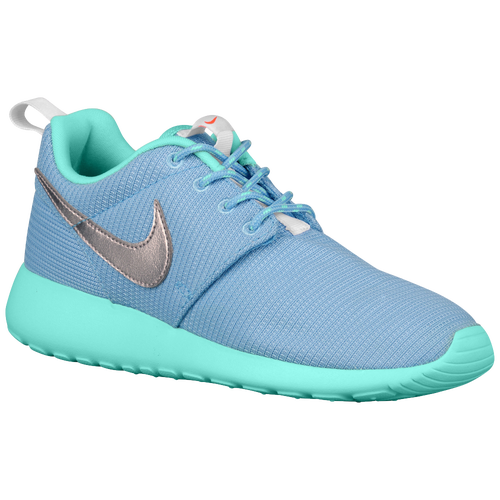 Nike Roshe One - Girls' Grade School - Running - Shoes - Lakeside/Artisan  Teal/White/Metallic Silver
