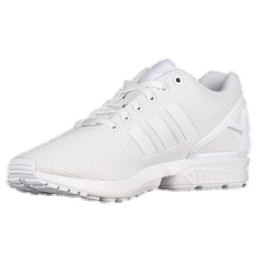 Adidas originals zx flux men s running shoes white white white