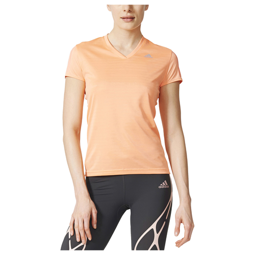adidas Response Short Sleeve T-Shirt - Women's Running - Sun Glow AX6582