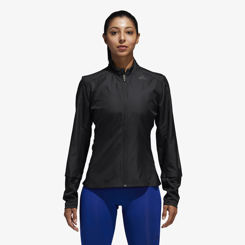 adidas Response Wind Jacket - Women's - Running - Clothing - Black