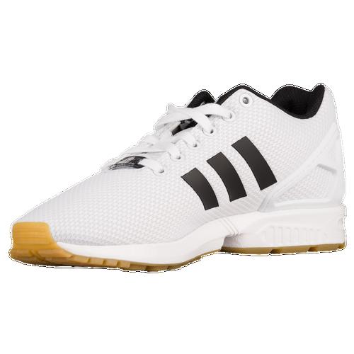 Adidas originals zx flux men s running shoes white black gum