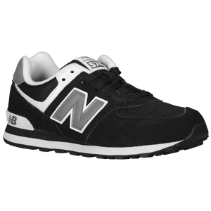 New Balance 574 - Boys' Grade School - Black/White