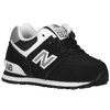 New Balance 574 Suede - Boys' Toddler - Black / White
