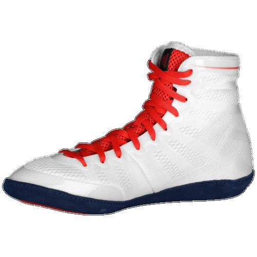 hot vendita adidas adizero varner mens wrestling scarpe bianche / marina / rosso