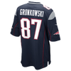 Nike NFL Team Color Game Day Jersey - Boys' Grade School -  Rob Gronkowski - New England Patriots - Navy / Red