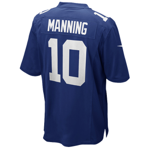 Nike NFL Team Color Game Day Jersey - Boys' Grade School - Manning, Eli - New York Giants - Blue