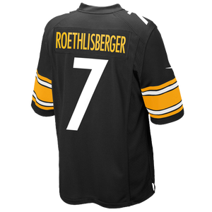 Nike NFL Team Color Game Day Jersey - Boys' Grade School - Roethlisberger, Ben - Pittsburgh Steelers - Black