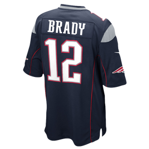 Nike NFL Team Color Game Day Jersey - Boys' Grade School - Brady, Tom - New England Patriots - Blue
