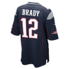 Nike NFL Team Color Game Day Jersey - Boys' Grade School -  Tom Brady - New England Patriots - Navy / Red