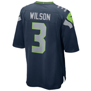 Nike NFL Team Color Game Day Jersey - Boys' Grade School - Wilson, Russell - Seattle Seahawks - Blue