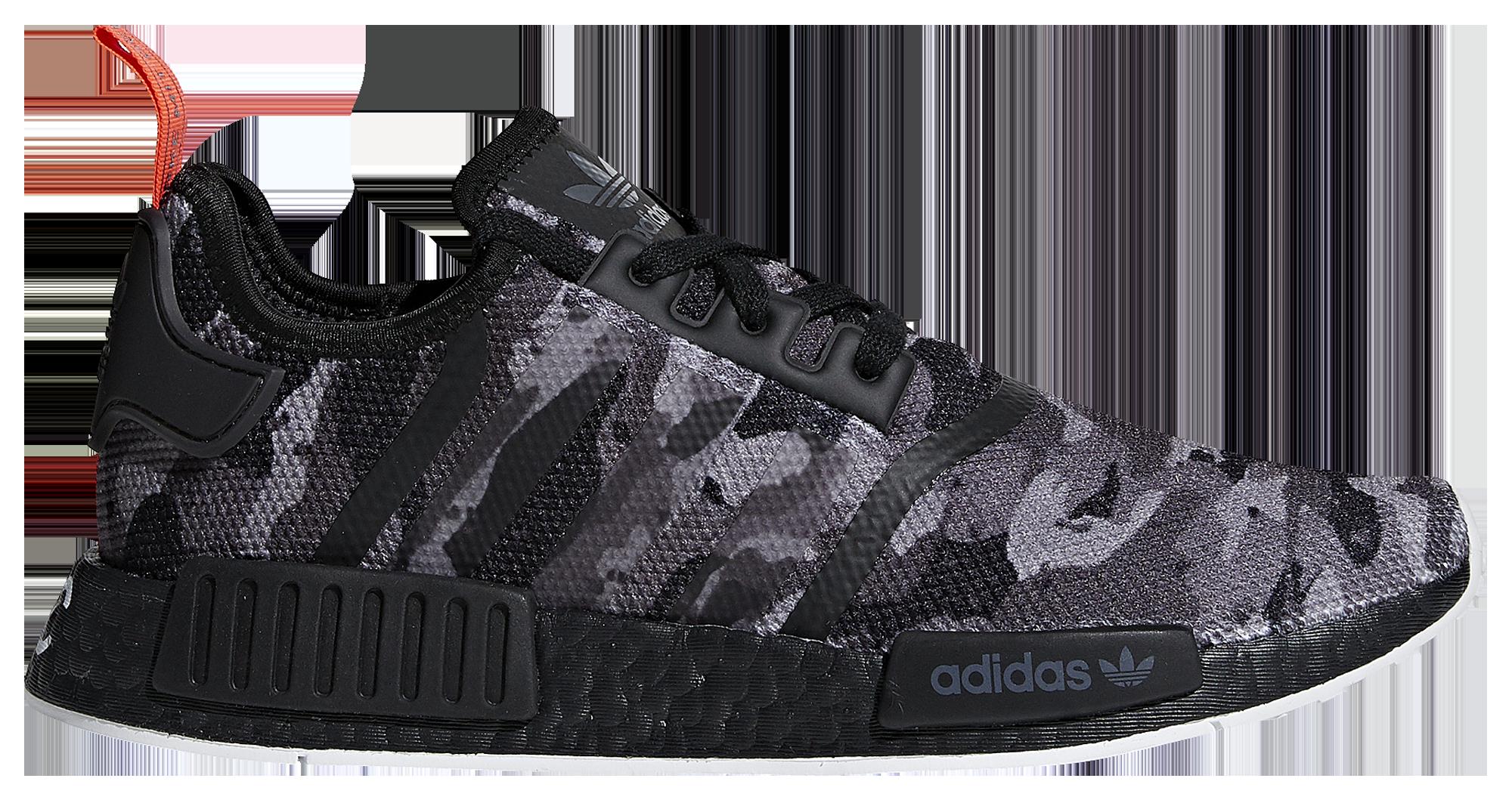 adidas originali nmd r1 uomini scarpe casual grigio / nero