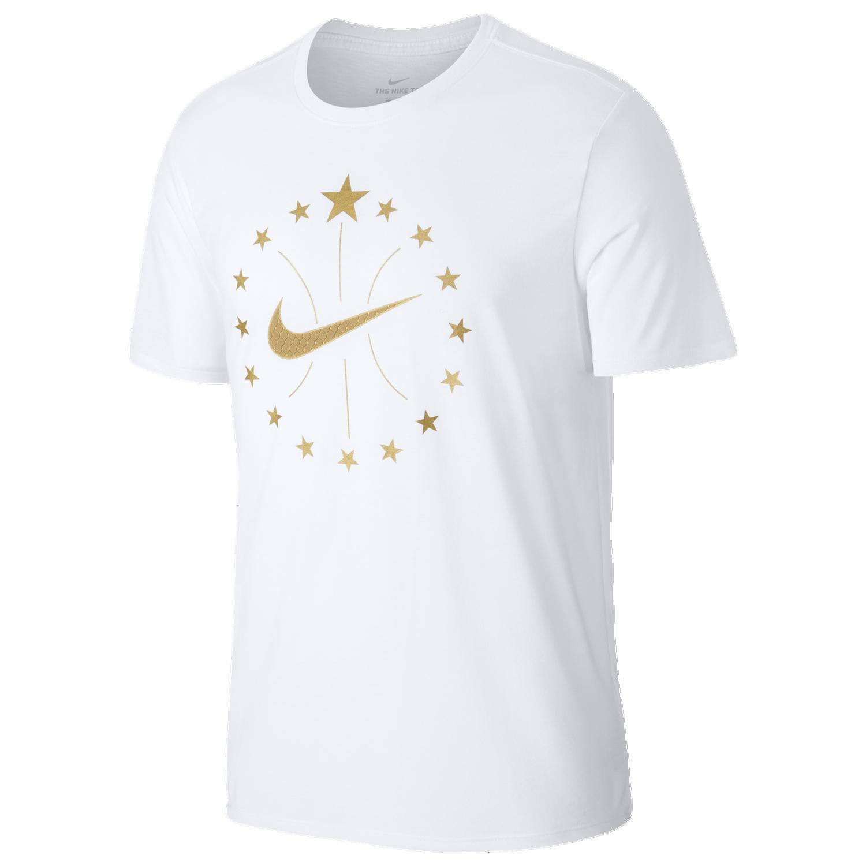 Nike 16 Stars T-Shirt - Men's Basketball - White 3342100