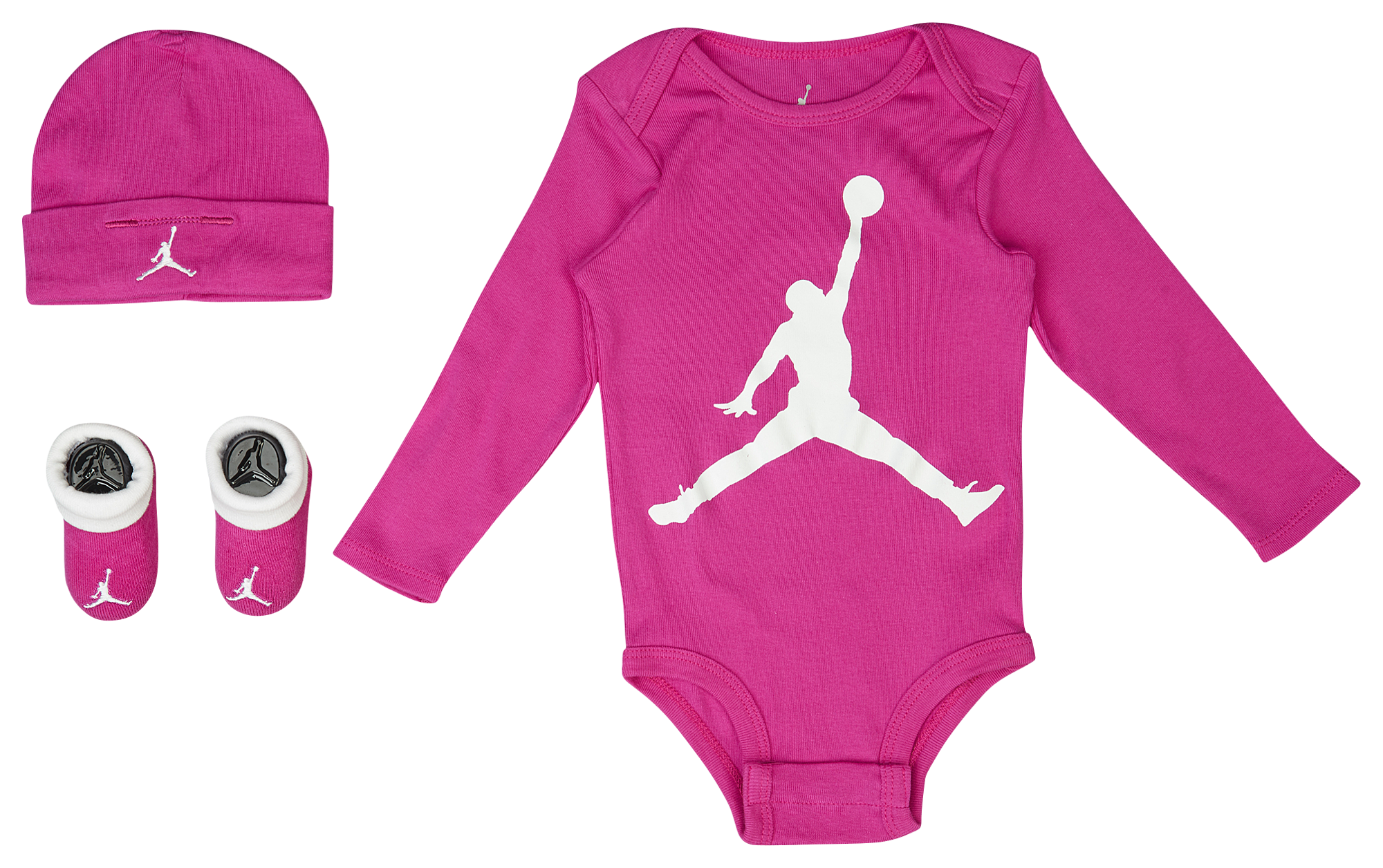 Jordan Jumpman LS 3 Piece Creeper Set Girls Infant Basketball