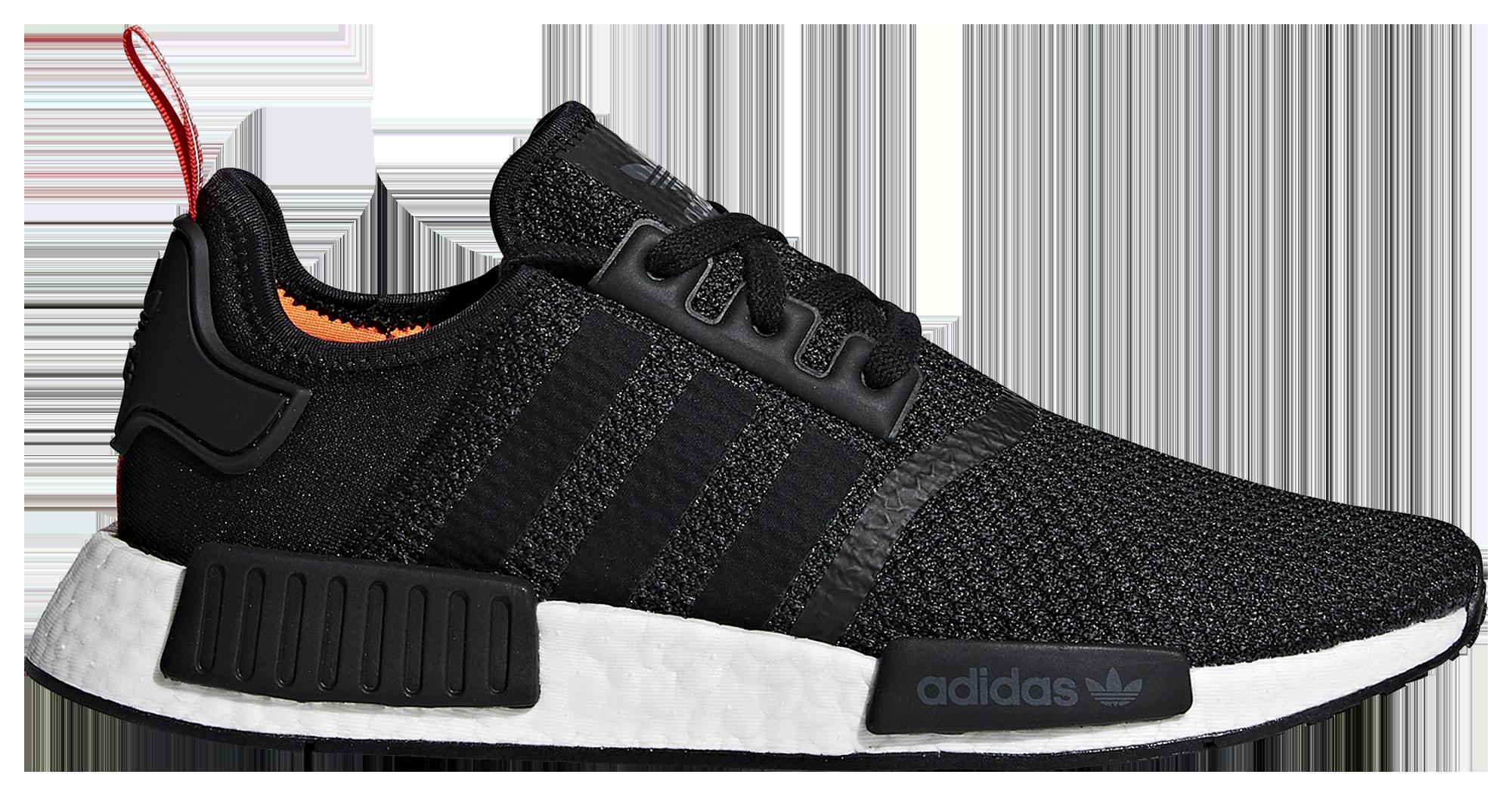 Adidas originali nmd r1 uomini scarpe casual nero / bianco / arancio