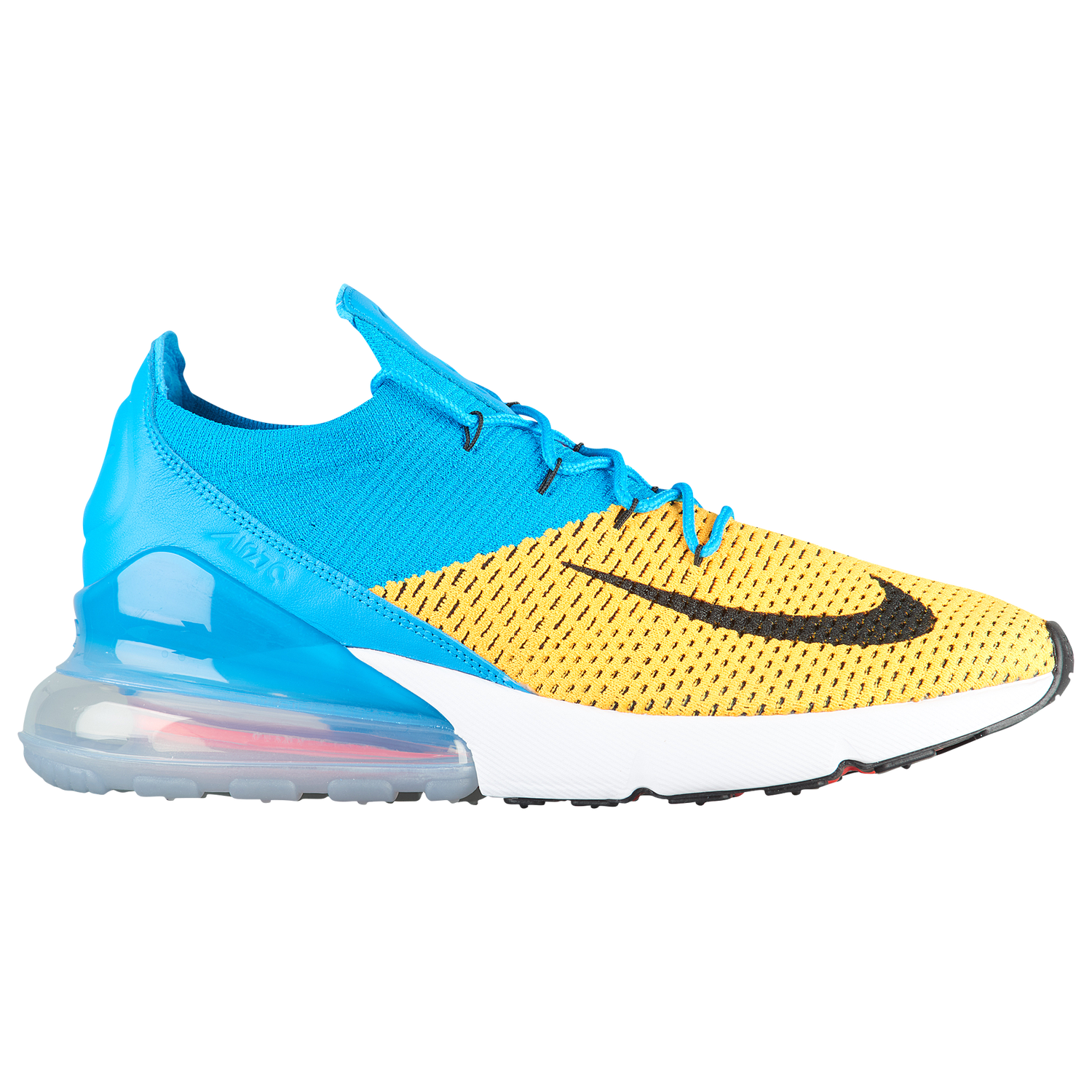 NIKE AIR MAX 270 FLYKNIT - MEN'S - Laser Orange/Black/Blue Orbit/Bright Crimson