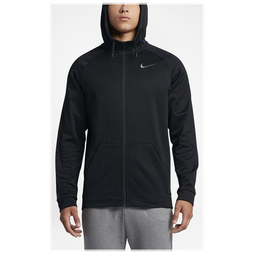 b7a73dbc7 free shipping Nike Therma Full Zip Hoodie Mens Training Clothing Black/Dark  Grey