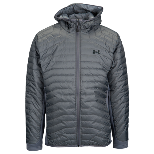 under armour jackets mens. under armour coldgear reactor hybrid jacket - men\u0027s casual clothing rhino grey/steel/black jackets mens