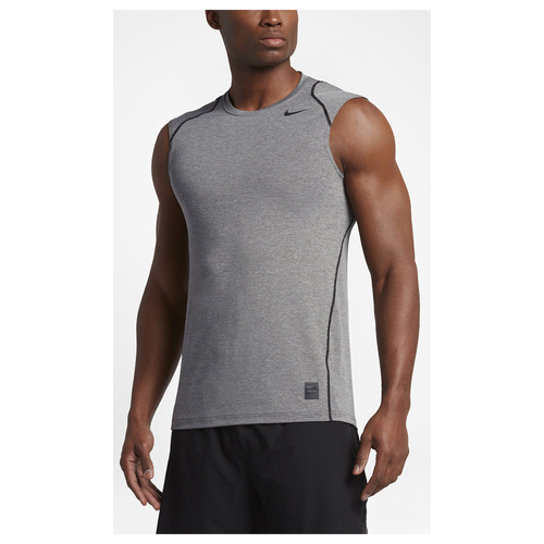 5655ac63 70%OFF Nike Pro Cool Fitted Sleeveless Top Mens Training Clothing Carbon  Heather/Black