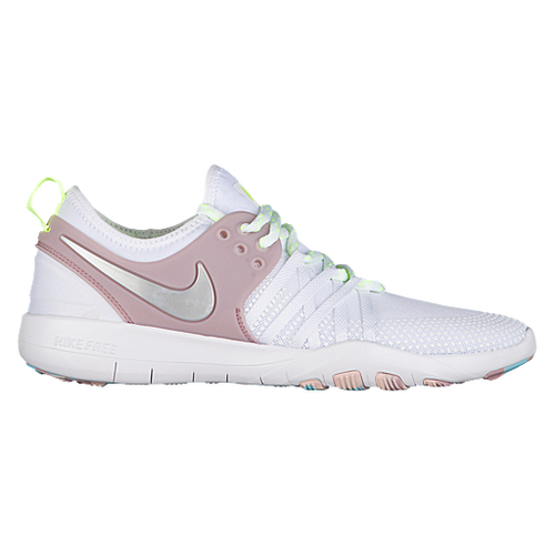 Nike Free TR 7 - Women's - Training - Shoes - White/Metallic Silver/Elemental Rose/Volt Glow