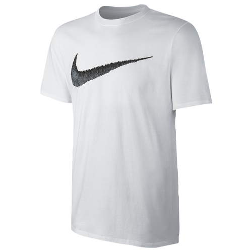 nike hangtag swoosh short sleeve t shirt men 39 s casual clothing white black. Black Bedroom Furniture Sets. Home Design Ideas