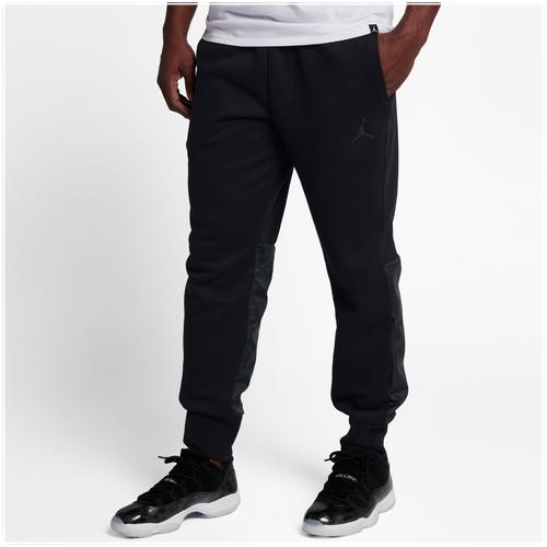 Jordan Retro 11 Hybrid Pants - Men's Basketball - Black 08364010