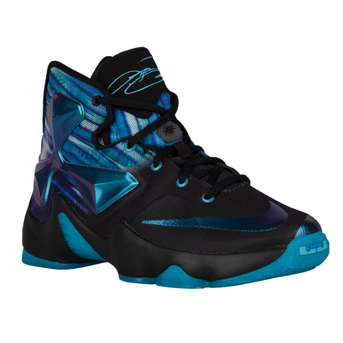 1cf7e72fb8f3 chic Nike LeBron XIII Boys Grade School Basketball Shoes Black White  Heritage Cyan