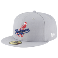 cheap for discount 1981a 94b18 ... real new era mlb 59fifty cooperstown wool cap mens los angeles dodgers  grey 38556 79923