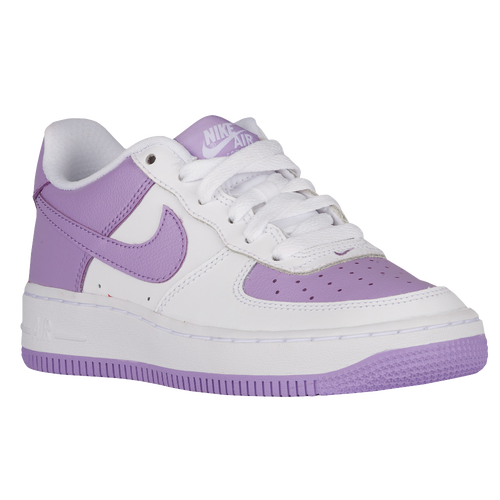new arrival 97304 1e4ee Nike Air Force 1 Low 06 Girls Grade School Basketball Shoes White Urban  Lilac cheap