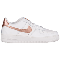 Nike Air Force 1 Low '06 - Girls' Grade School - White / Pink