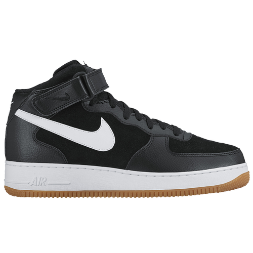 new arrivals dc1be 629ee Nike Air Force 1 Mid Mens Basketball Shoes Black White Gum Light Brown free