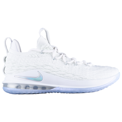 huge discount 3e063 8b48b ... wholesale nike lebron 15 low mens basketball shoes james lebron white  metallic silver atmosphere grey 2326e