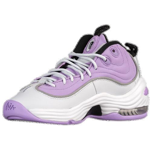 0be49fa6709c Nike Air Penny II Girls Grade School Basketball Shoes Pure Platinum Black Urban  Lilac