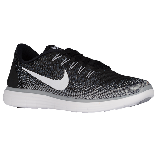 more photos dc215 50377 Nike Free RN Distance Mens Running Shoes Black White Dark Grey Wolf Grey