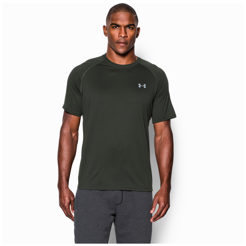 573d8dfa9bba lovely Under Armour HeatGear Tech Shortsleeve TShirt Mens Training Clothing  Artillery Green Steel