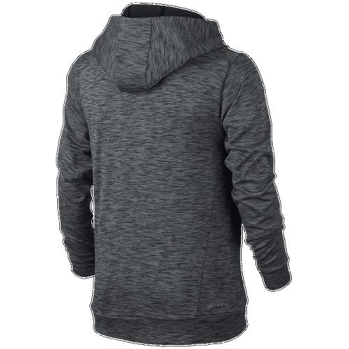 5db2aa49f179 Nike DriFIT Lightweight P O Hoodie Boys Grade School Training Clothing Black Wolf  Grey