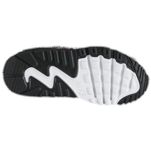 784c1012a6 Nike Air Max 90 Girls Preschool Running Shoes Black/Hyper Violet/White 70%
