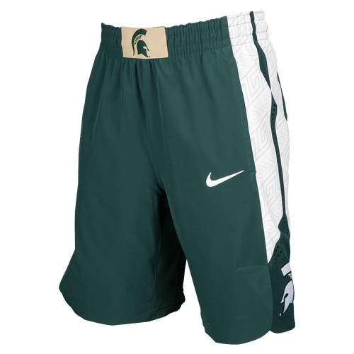 710d2edd335f 50%OFF Nike College Authentic On Court Shorts Mens Clothing Michigan State  Spartans Green