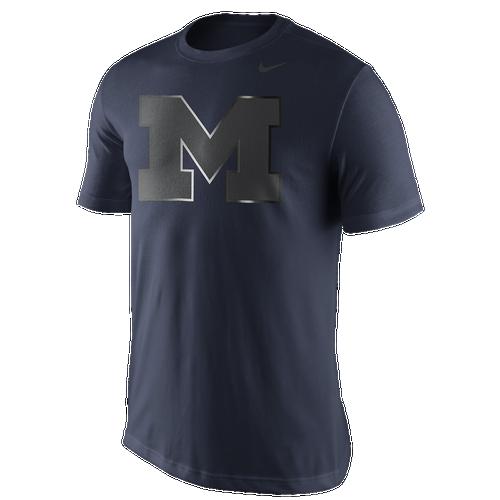 reputable site 8f2fe 464b1 Nike College Shine Logo TShirt Mens Clothing Michigan Wolverines Navy  high-quality