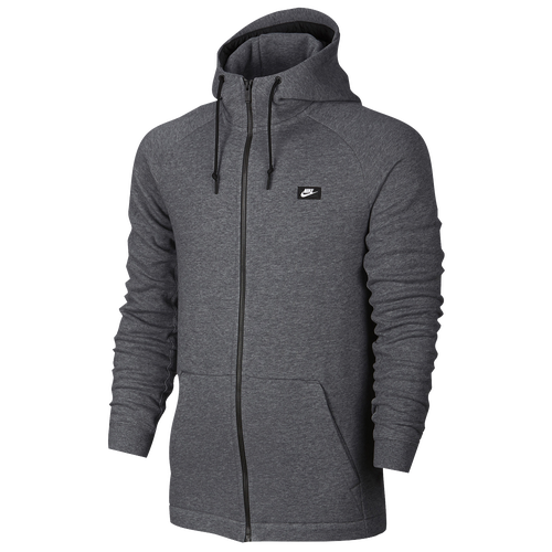 nike modern hoodie full zip men 39 s casual clothing carbon heather. Black Bedroom Furniture Sets. Home Design Ideas