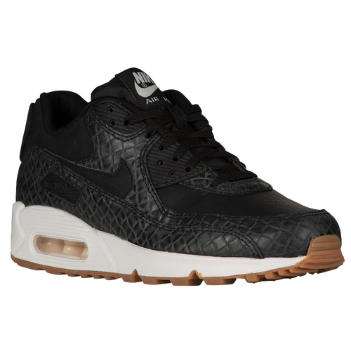 Nike Air Max 90 - Women's - Casual - Shoes - Black/Black/Sail/Gum Med Brown